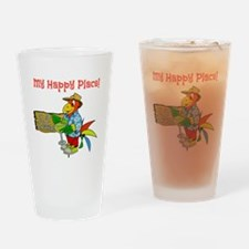 My Happy Place Drinking Glass
