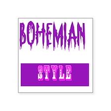 "bohemian style Square Sticker 3"" x 3"""