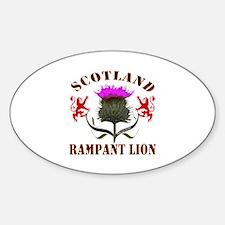 Scotland Tartan Rampant Lion Thistl Decal