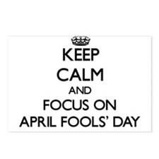 Keep Calm And Focus On April Fools Day Postcards (