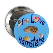 I Love Hamsters #01 Button