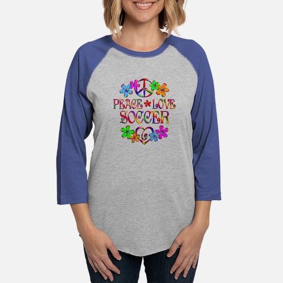 Peace Love Soccer Long Sleeve T-Shirt