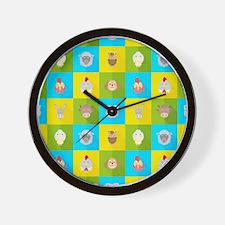 Farm Faces Wall Clock