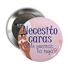 """Necesito Caras B1 2.25"""" Button (100 pack)"""