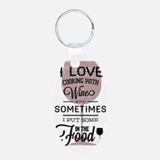 I love Wines! Aluminum Oval Keychain