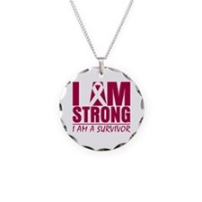 Sickle Cell Anemia Strong Necklace Circle Charm