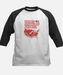United Steaks of America Kids Baseball Jersey