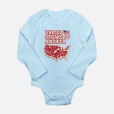 United Steaks of Ameri Long Sleeve Infant Bodysuit