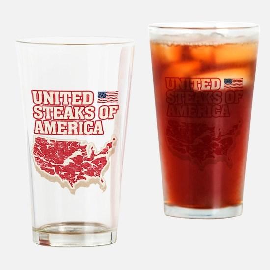 United Steaks of America Drinking Glass