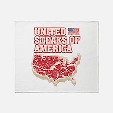 United Steaks of America Throw Blanket