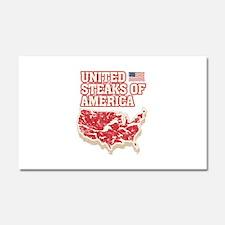 United Steaks of America Car Magnet 20 x 12