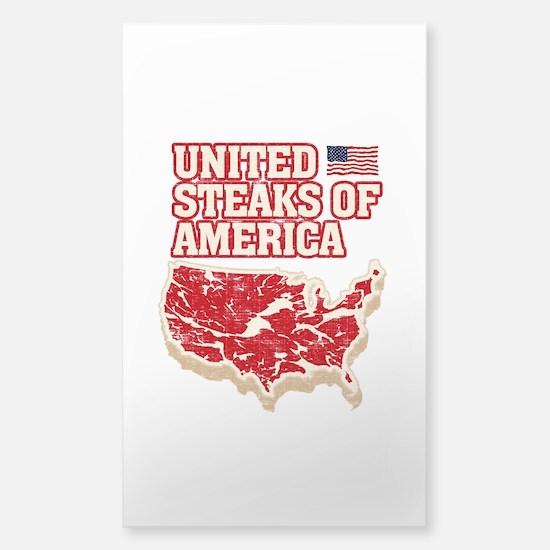 United Steaks of America Sticker (Rectangle)