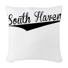 South Haven, Retro, Woven Throw Pillow