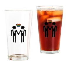 Mr. & Mr. Gay Pride Grooms Drinking Glass