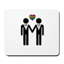 Mr. & Mr. Gay Pride Grooms Mousepad