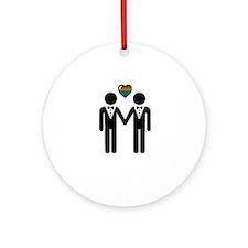 Mr. & Mr. Gay Pride Grooms Ornament (Round)