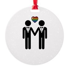 Mr. & Mr. Gay Pride Grooms Ornament