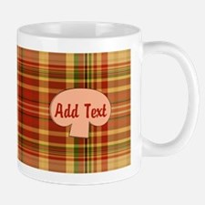 Pizza Plaid Mushroom Small Small Mug