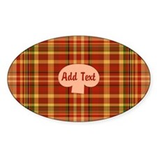 Pizza Plaid Mushroom Decal