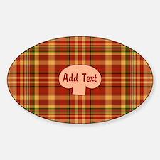 Pizza Plaid Mushroom Sticker (Oval)