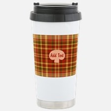 Pizza Plaid Mushroom Stainless Steel Travel Mug