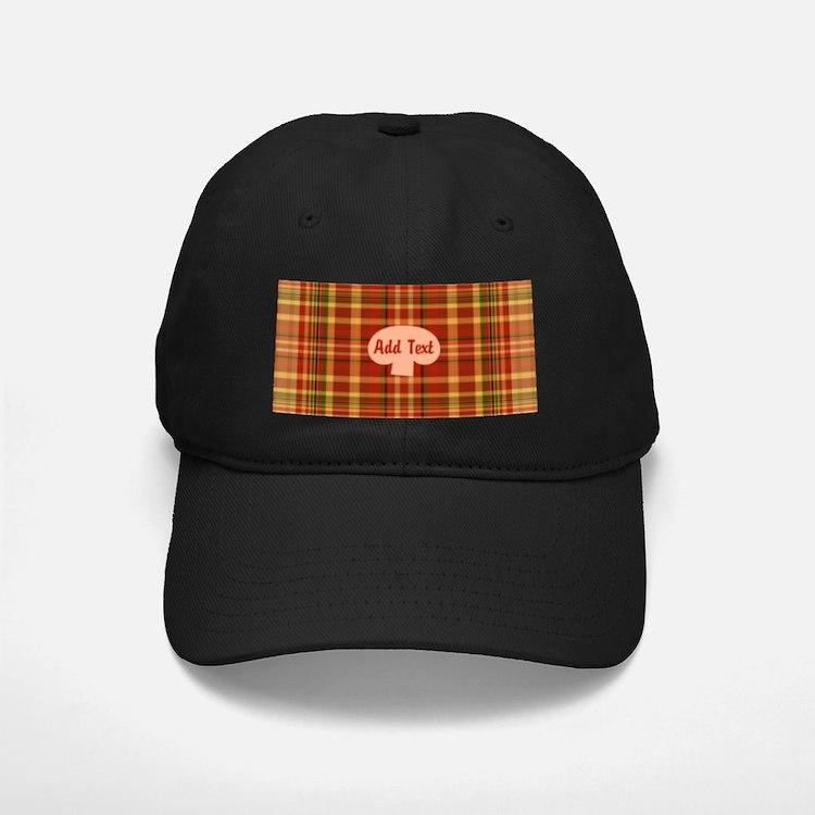 Pizza Plaid Mushroom Baseball Hat