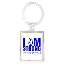 Erb Palsy Strong Portrait Keychain