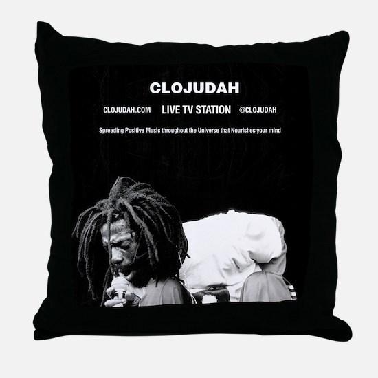 CLOJudah Buju Banton Live Throw Pillow