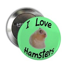 I Love Hamsters #06 Button