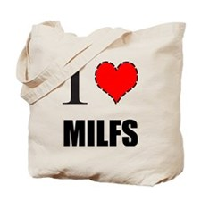 Unique I heart milfs Tote Bag