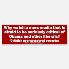 Coward News Media Sticker (Bumper)