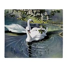 Swans, painting by Alexander Koester Throw Blanket