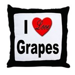 I Love Grapes Throw Pillow
