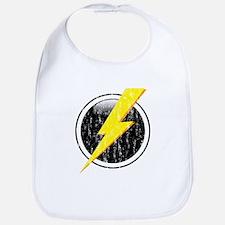 Lightning Bolt Distressed Bib
