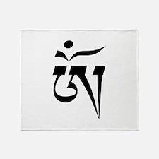 tibetanaum.png Throw Blanket