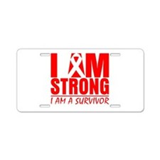 AIDS Strong Aluminum License Plate