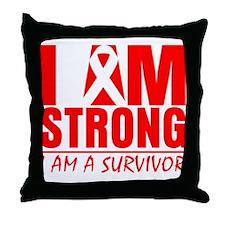 AIDS Strong Throw Pillow