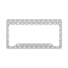 Grey Anchor Pattern License Plate Holder