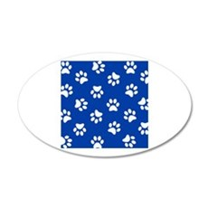 Dark Blue Pawprint pattern Wall Sticker