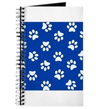 Dark Blue Pawprint pattern Journal