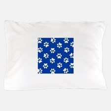 Dark Blue Pawprint pattern Pillow Case