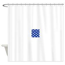 Dark Blue Pawprint pattern Shower Curtain