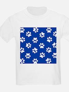Dark Blue Pawprint pattern T-Shirt