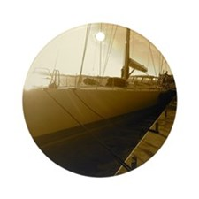 Sailboat Round Ornament