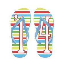 Colorful Stripes Class Of 2014 Flip Flops