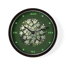 Yarrow Flower Wall Clock
