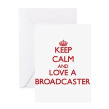 Keep Calm and Love a Broadcaster Greeting Cards