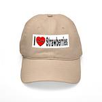 I Love Strawberries Cap
