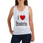 I Love Strawberries Women's Tank Top
