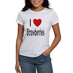 I Love Strawberries (Front) Women's T-Shirt